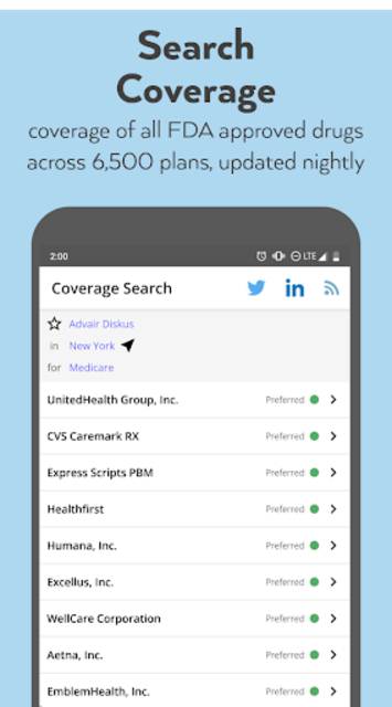 Coverage Search screenshot 1