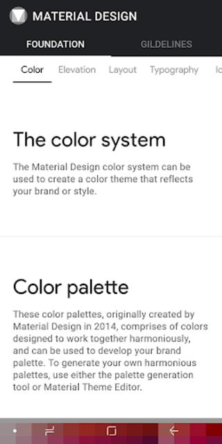 MATERIAL DESIGN screenshot 2