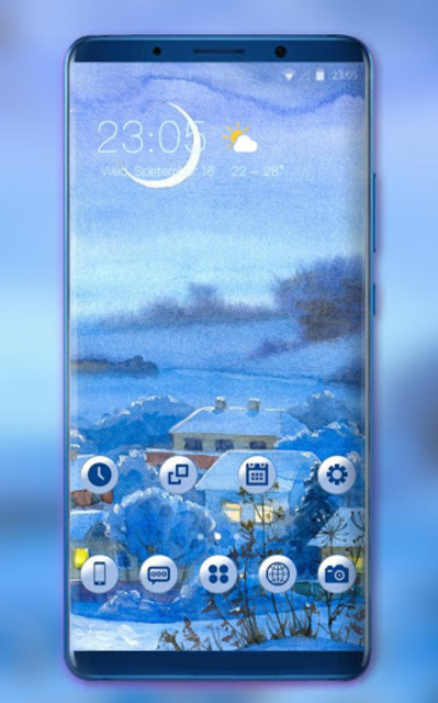 About: Theme for hand draw village oppo f5 wallpaper (Google Play