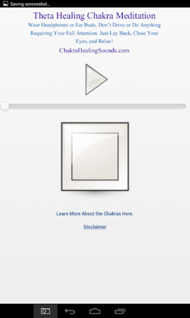 Theta Meditation Chakra Sound screenshot 2