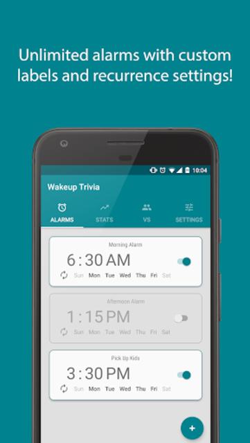 Wakeup Trivia Pro - Alarm Clock screenshot 1