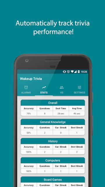 Wakeup Trivia Pro - Alarm Clock screenshot 4