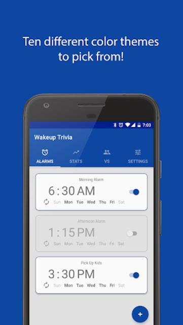 Wakeup Trivia Pro - Alarm Clock screenshot 5