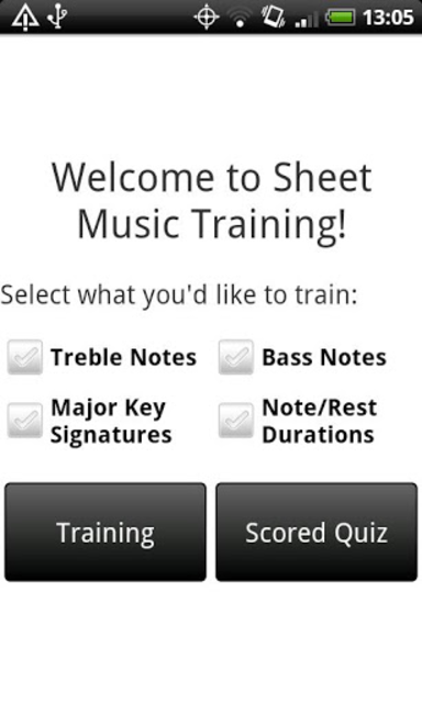 Sheet Music Training screenshot 1