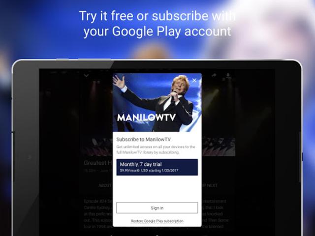 ManilowTV screenshot 8