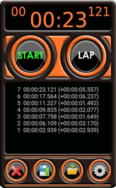 Stopwatch Pro screenshot 1