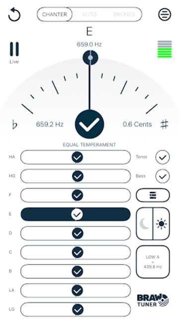 Braw Bagpipe Tuner screenshot 4