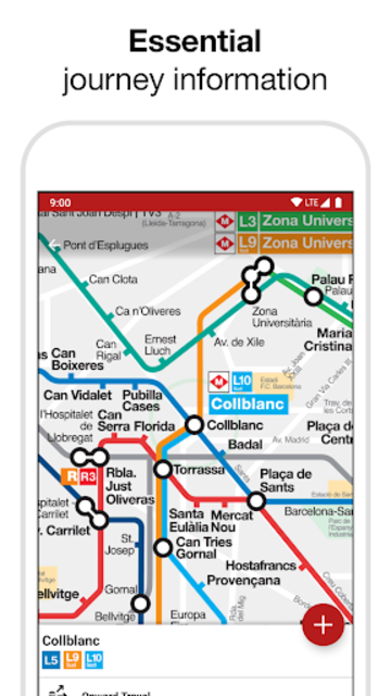 Barcelona Metro - TMB map and route planner screenshot 2