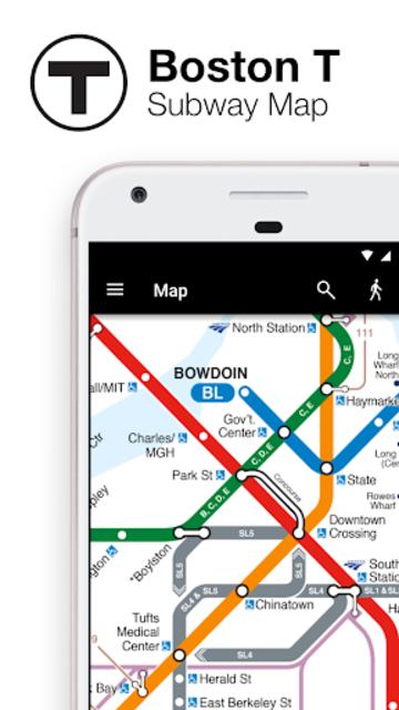 Boston T - MBTA Subway Map and Route Planner screenshot 1