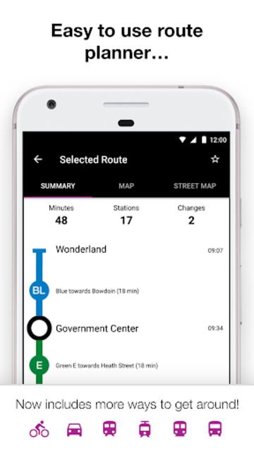 Boston T - MBTA Subway Map and Route Planner screenshot 2