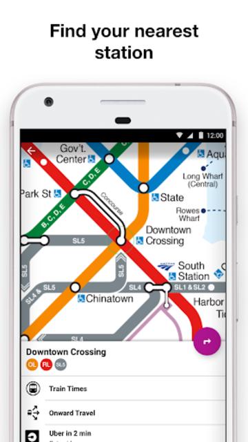 Boston T - MBTA Subway Map and Route Planner screenshot 4