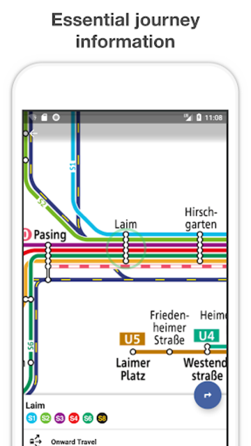 Munich Metro - MVG map and route planner screenshot 2