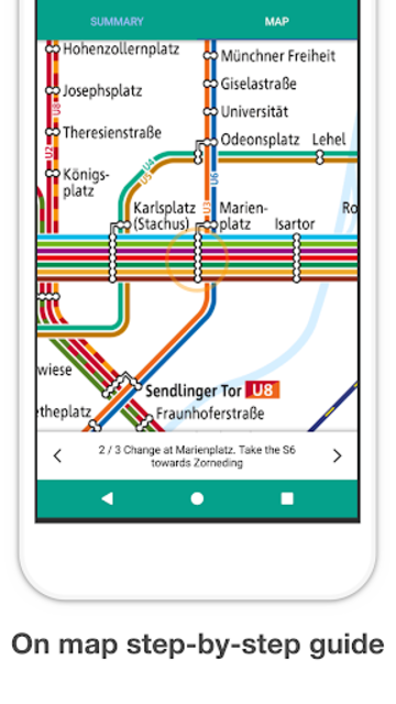 Munich Metro - MVG map and route planner screenshot 4
