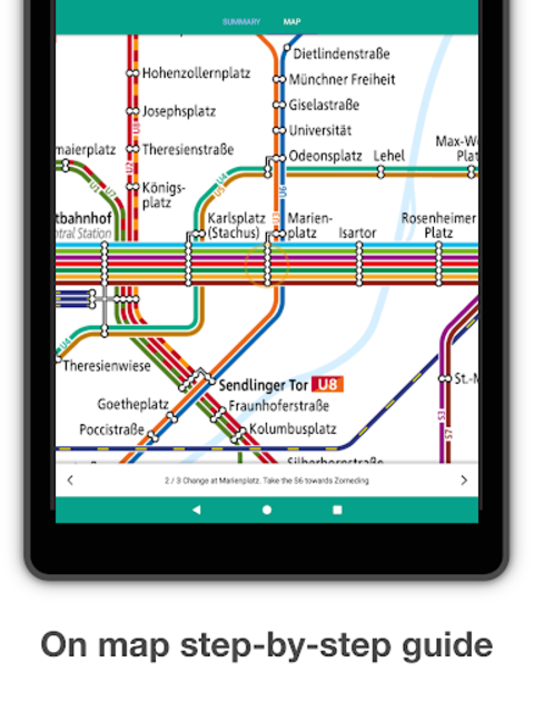 Munich Metro - MVG map and route planner screenshot 10