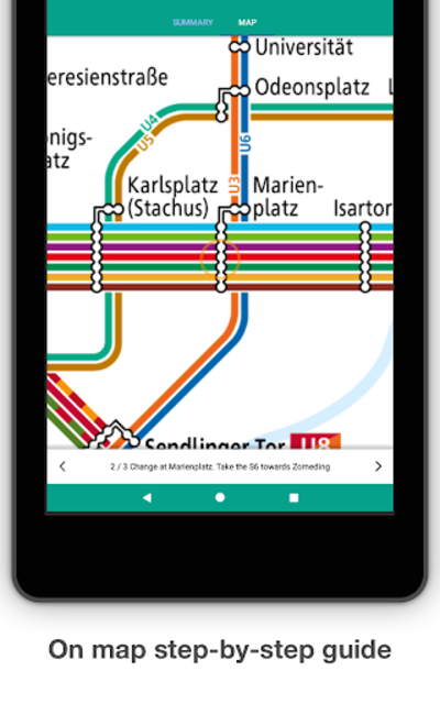 Munich Metro - MVG map and route planner screenshot 14