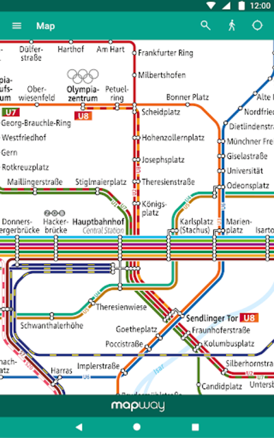 Munich Metro - MVG map and route planner screenshot 15