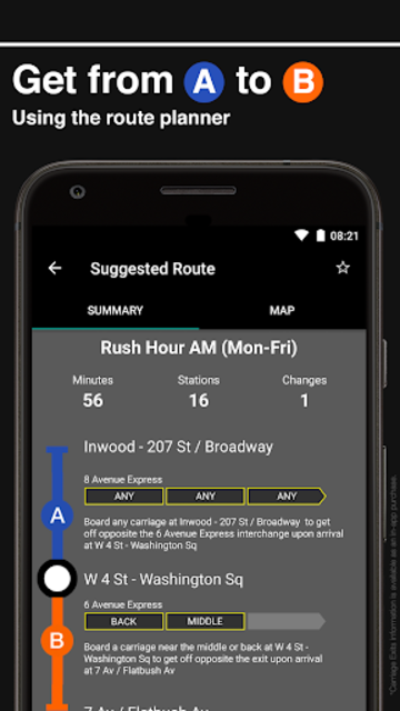 New York Subway – Official MTA map of NYC screenshot 2