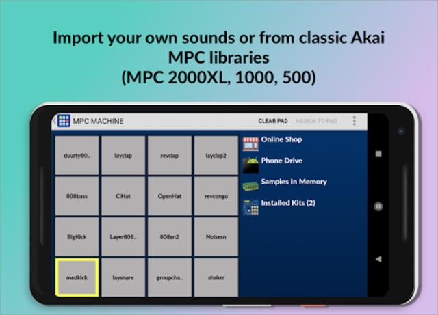 MPC MACHINE - Sampler Drum Machine Beat Maker screenshot 2