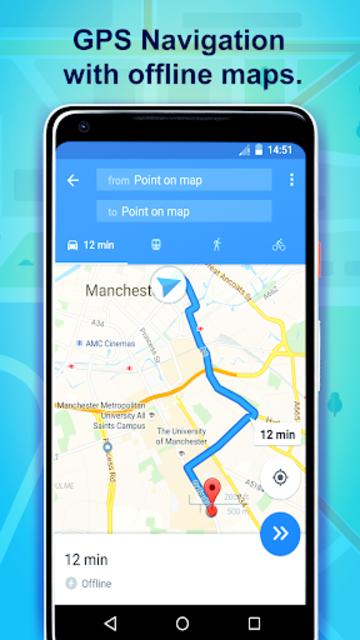Offline GPS & maps without internet screenshot 1