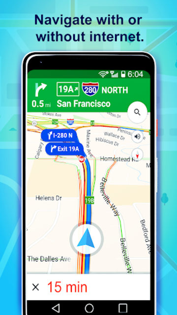 Offline GPS & maps without internet screenshot 2