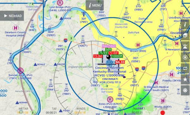 AvNav: Aviation Maps, w/Wx, Traffic and Terrain screenshot 9