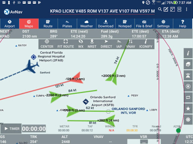AvNav: Aviation Maps, w/Wx, Traffic and Terrain screenshot 2