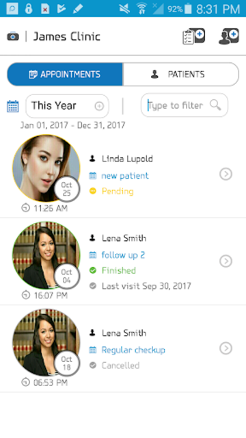 Patient Medical Records & Appointments for Doctors screenshot 2