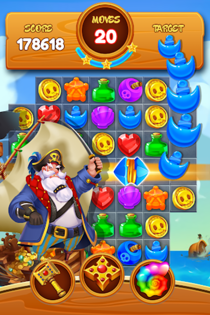 Jewel Crush Pirate screenshot 1