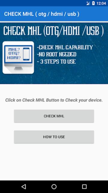 CHECK MHL ( Otg / Hdmi / Usb ) screenshot 2