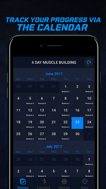 4 Day Muscle Building Workout Split Pro screenshot 3
