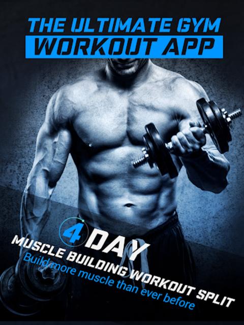 4 Day Muscle Building Workout Split Pro screenshot 4