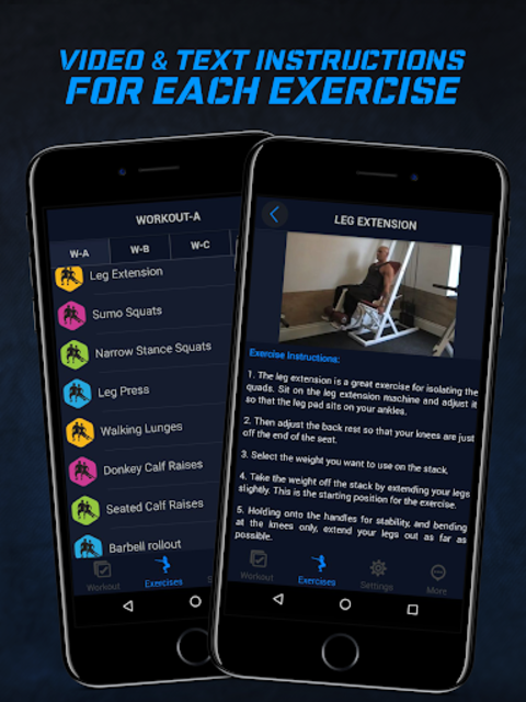 4 Day Muscle Building Workout Split Pro screenshot 5