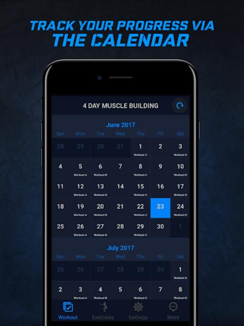 4 Day Muscle Building Workout Split Pro screenshot 6