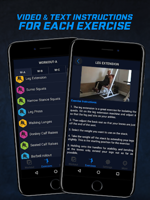 4 Day Muscle Building Workout Split Pro screenshot 8