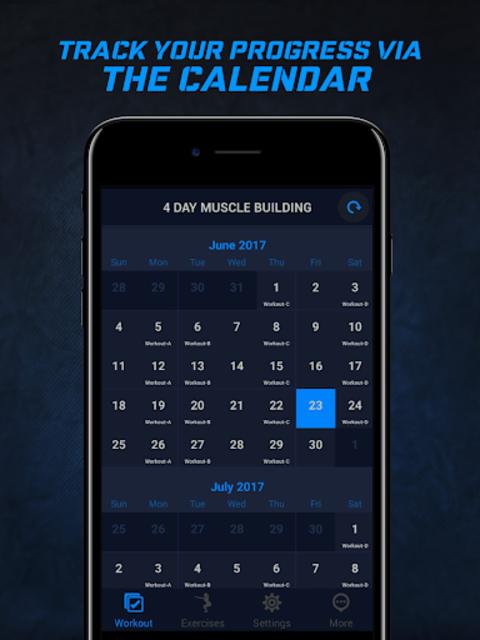 4 Day Muscle Building Workout Split Pro screenshot 9
