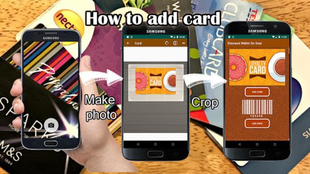 Discount cards wallet for Galaxy watch screenshot 1