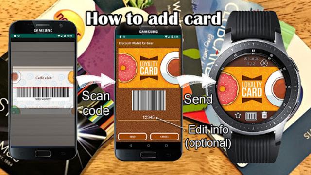 Discount cards wallet for Galaxy watch screenshot 2