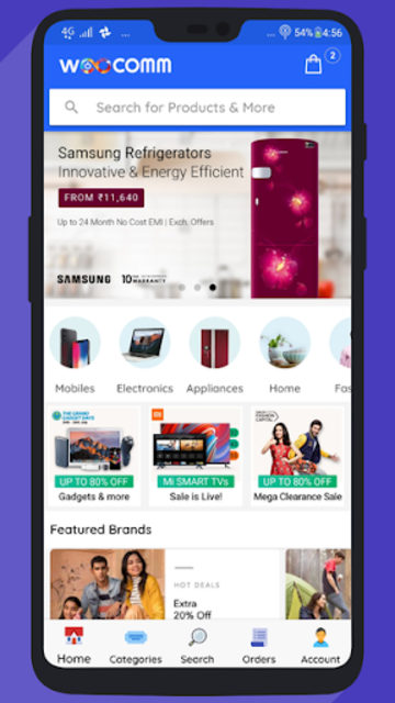 WooCommerce Mobile App with Phone Authentication screenshot 1