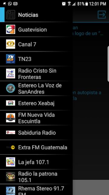 Canales TV de Guatemala screenshot 1