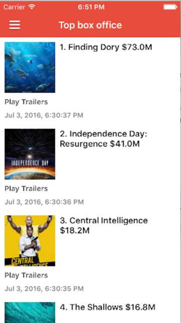 Popcorn Time - Movie Reviews screenshot 1
