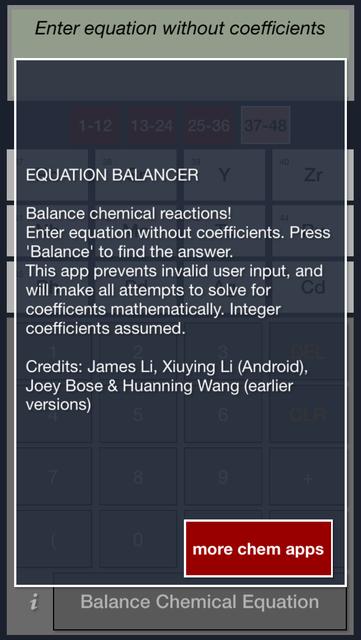 Chemistry Equation Balancing Calculator Free screenshot 5