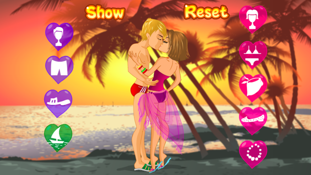 Kissing on a Beach Dress Up screenshot 2