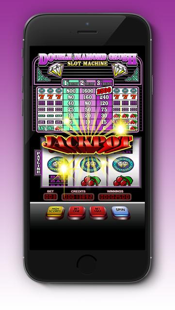 Double Diamond Crush Slot machine screenshot 2