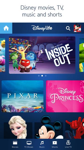 DisneyLife screenshot 1