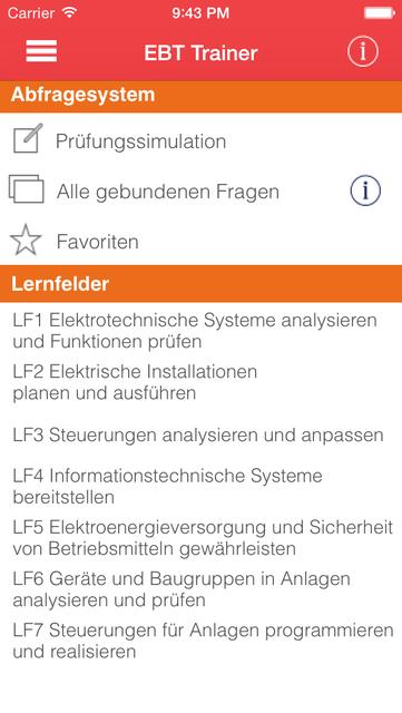 EBT Trainer - Elektroniker für Betriebstechnik screenshot 1