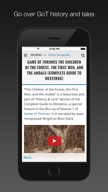 News & Wiki for Game of Thrones screenshot 2