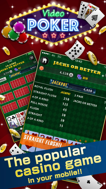 Video Poker Deluxe - Free Game screenshot 1