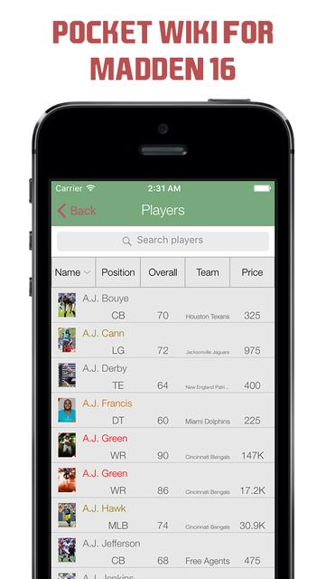 Pocket Wiki for Madden NFL 16 screenshot 1