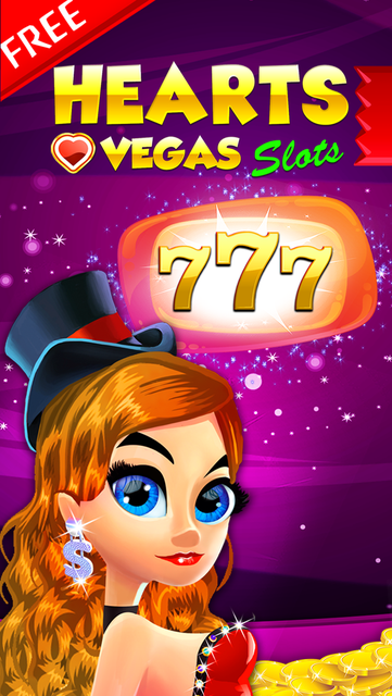 Vegas Heart's Slots & Casino - play lucky boardwalk favorites grand poker and more screenshot 1
