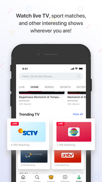 Vidio - Nonton TV, Video, Film screenshot 10